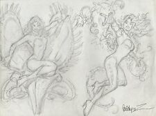 Poison Ivy Style Guide Pencil Piece - Signed art by Jose Garcia-Lopez