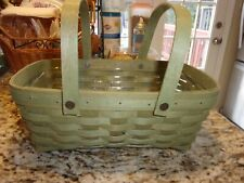 New ListingLongaberger Medium Chore Basket With Protector Moss Green
