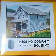 Branchline Laser-Art Structures HO #606 Company House#2 (kit form)3-1/2 x 6 x 4