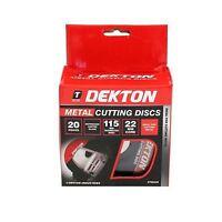 Dekton 20pk Ultra Thin Steel Cutting Angle Grinder Disc 115mm Diameter 22mm core