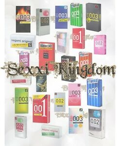 JEX/Sagami/Okamoto 001 002 003 Super thin Condom Made in Japan (US SELLER)
