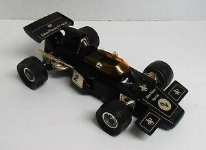 Vintage 1981 John Player Special Black Plastic Lotus Race Car AM Radio (Works)