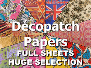 Decopatch Paper FULL Sheets, Huge Selection, Combined P&P, Up Cycle Create Craft