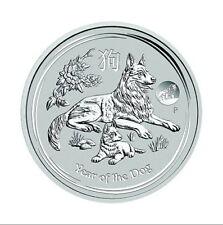 1 oncia 999 Argento Moneta d'argento Lunar Cane Australia Perth Mint 2018 Privy