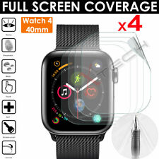 4x FULL SCREEN TPU Screen Protector Covers for Apple Watch Series 6, SE, 5 40mm