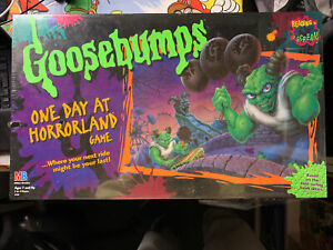 GOOSEBUMPS one Day at Horrorland 1996 BOARD GAME Sealed Complete Vintage rare -