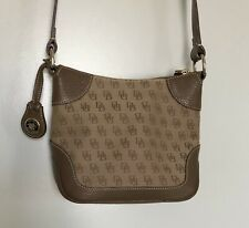 DOONEY & BOURKE Small Crossbody Signature Messenger Handbag Purse Tan/Brown