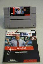John Madden Football '93 SNES Video Game - Super Nintendo