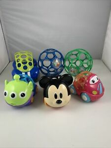 Disney Baby Go Grippers Collection Push Cars from Oball Mickey, Toy Story Alien