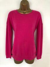 Boden Jumper Pink Grace Button Side Knit Wool Mix Long Sleeve Size 10/12