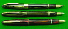 3 Vintage Sheaffer Fountain Pens  - All c1940 and all in good condition