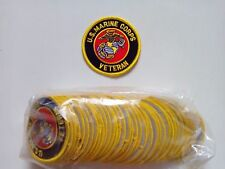 "lot of 2 US MARINE CORPS USMC VETERAN Embroidered Patches 3"" Diameter devil dog"