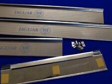 jaguar mk2 tread plates growl logo door sill stainless etched kick panel