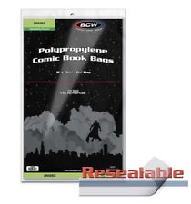 Pack of 100 Bags BCW Resealable Bag For Graded Comics - 9 X 13 7/16 (#CS145)