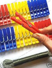 36 Clavijas De Plástico Ropa Clavijas y fuerte conjunto de línea de lavado Clavijas 10m Duralon UK1st