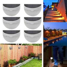 Lot6 Outdoor Solar Power 6 LED Sensor Garden Light Wall Fence Lamp Waterproof