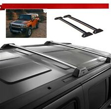 For 06-10 Hummer H3 H3T Silver Roof Rack Cross Bar Set W/Lock Luggage Key