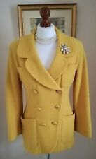 Authentic CHANEL Boutique Vintage Yellow Boucle Jacket Blazer FR36 UK8 Stunning!