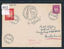 06453) KLM FF Amsterdam - Tunis 16.4.59, Karte ab Norwegen