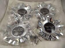 Avarus Chrome Custom Wheel Center Caps # MS-CAP-Z216 / Z215 / AV-3 (4 CAPS)