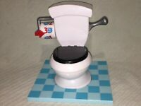"Hasbro Flushing Toilet 2016 ""Toilet Trouble"" Real Flushing Sound 1, 2, 3 C0447"