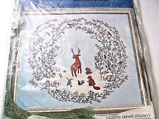 PARAGON WOODLAND WATCH CREWEL EMBROIDERY KIT 0615 STITCHERY POLLY GOTTFRIED VINT