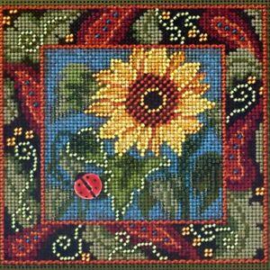 Sunflower Cross Stitch Kit Mill Hill 2013 Buttons & Beads Autumn