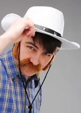 Adult White Felt Cowboy Hat Studded Stetson Fancy Dress Prop