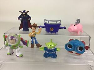 Disney Toy Story Buddy Pack Mini Figures Topper 7pc Lot Lenny Woody Buzz Zurg