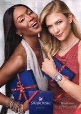 G- Publicité Advertising 2017 Karlie Kloss et Naomi Campbell Bijoux Swarosvski