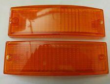 Blinker Blinkerglas Set Orange,vorne  für Porsche 911 74-89 mit E-Prüfzeichen