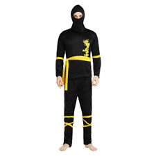 Men's Dragon Ninja Dress Up Costume Cosplay Halloween Party Outfit