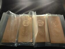 COPPER BAR 1 POUND-  LOT OF (4) Premium Bars- RANDOM DESIGN  -OUR CHOICE-bullion