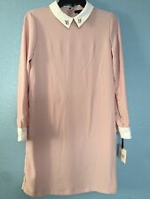 NWT Women's Blush Pink Collared Bunny Dress Size XL Victoria Beckham for Target