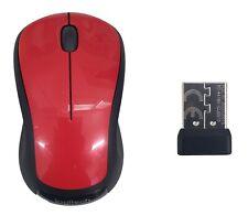 Logitech M310 Wireless Desktop Full Size Optical Mouse Nano USB Receiver New Red