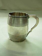 ANTIQUE 1803 GEORGE III GEORGIAN LONDON STERLING SILVER TANKARD MUG CUP