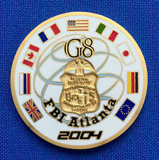 Federal Bureau of Investigation Atlanta G8 Summit 2004 FBI Police Challenge Coin