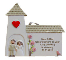Ruby (40th) Wedding Anniversary Personalised Engraved Gift