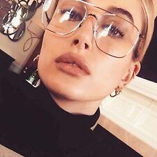 groß durchsichtige Linse Modeaccessoire Brillen Retro Damen Herren