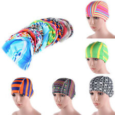 Unisex Adult Easy Fit Swimming Hat Swim Cap Bathing Nylon Spandex Fabric