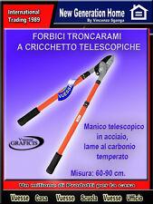 FORBICI TRONCARAMI A CRICCHETTO telescopico acciaio, lame al carbonio cm 60-90