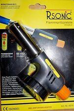 Gasbrenner Lötbrenner 2 in 1 mit Piezo Zündung Flammbierer Bunsenbrenner Gas