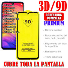 PARA IPHONE 6 S 7 8 PLUS 11 PRO X S XR PROTECTOR PANTALLA 3D 9D CRISTAL TEMPLADO