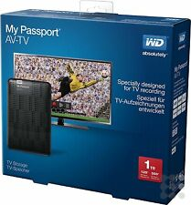 Western Digital WD USB 3.0 1TB My Passport AV-TV schwarz