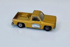 Vintage 1981 ERTL DUKES OF HAZZARD COOTER'S GARAGE CHEVY FLEETSIDE PICKUP GOLD
