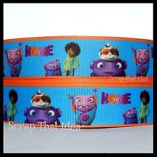 "HOME  Ribbon. 7/8"" Grosgrain. Disney Pixar. Blue w/Orange Border. Alien. Tip, Oh"