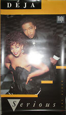 "Deja ""Serious"", Virgin promotional poster, 1987, 20x35, Ex, R&B"