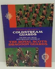 Vtg Coldstream Guards Royal Scots Dragoon Guards program Book 1981 Marching Band