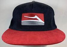 Lakai Limited Footwear Hat Snapback Skateboarding Shoes Cap Red Black Skate