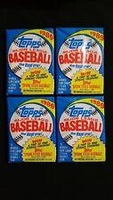 1989 Topps Baseball Wax Pack 4 Pack Lot FASC
